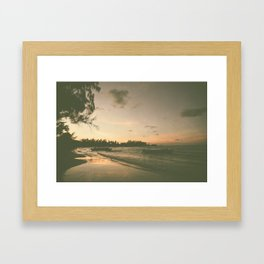 Bay Sunset Framed Art Print