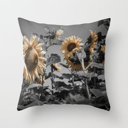 Sunflowers On My Mind Throw Pillow