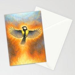Phoenix tit bird Stationery Cards