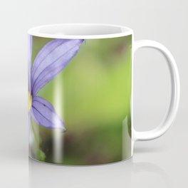 Blue Eyed Grass Flower Coffee Mug