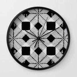 Silver Snow, Snowflakes #01 Wall Clock