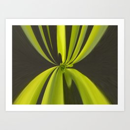Draped and pleated abstract Art Print