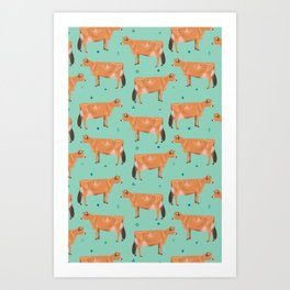 Jerseys - Pale Green // Viridian Art Print