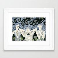 swim Framed Art Prints featuring Swim by Yuliya