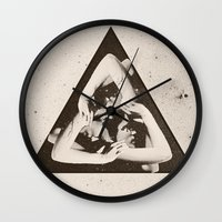 triangle Wall Clocks featuring TRIANGLE by Ali GULEC