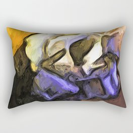 Flowers of Yellow with White Roses 3 Rectangular Pillow