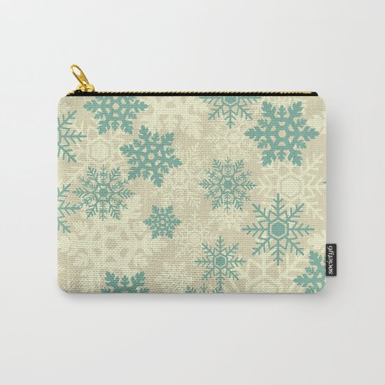 Snowflakes #2 Carry-All Pouch