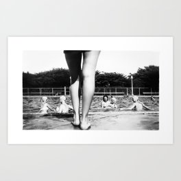 A Day At The Pool Art Print