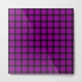 Purple Violet Weave Metal Print