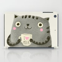 milk iPad Cases featuring I♥milk by Lime