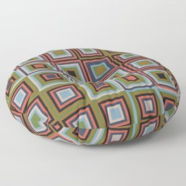 Modern Squares in Fantastic Output Floor Pillow