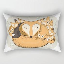 Mom fox Rectangular Pillow