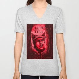 LORD OF THE LIES - DONALD TRUMP PIG HEAD Unisex V-Neck