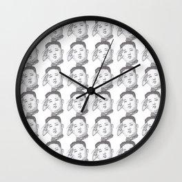 Kim Jong Un salutes Wall Clock