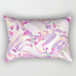 Calypso Pattern in Purple, Pink, Yellow and White Rectangular Pillow