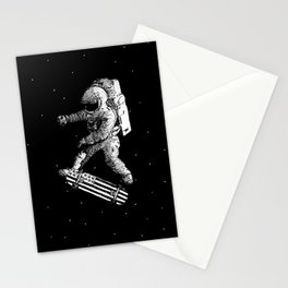 Kickflip in space Stationery Cards