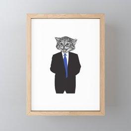 Cat Person Funny Cat Gift Framed Mini Art Print