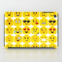 emoji iPad Cases featuring Emoji-Minifigure by Raddington Falls