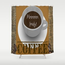 Lovely Coffee Shower Curtain