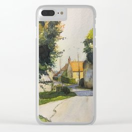 France: Normandy Countryside, Country road back to home Clear iPhone Case