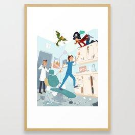 Mayhem at the Dentist Framed Art Print