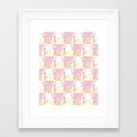 dangan ronpa Framed Art Prints featuring Dangan Ronpa - Monomi Sensei by MinawaKittten