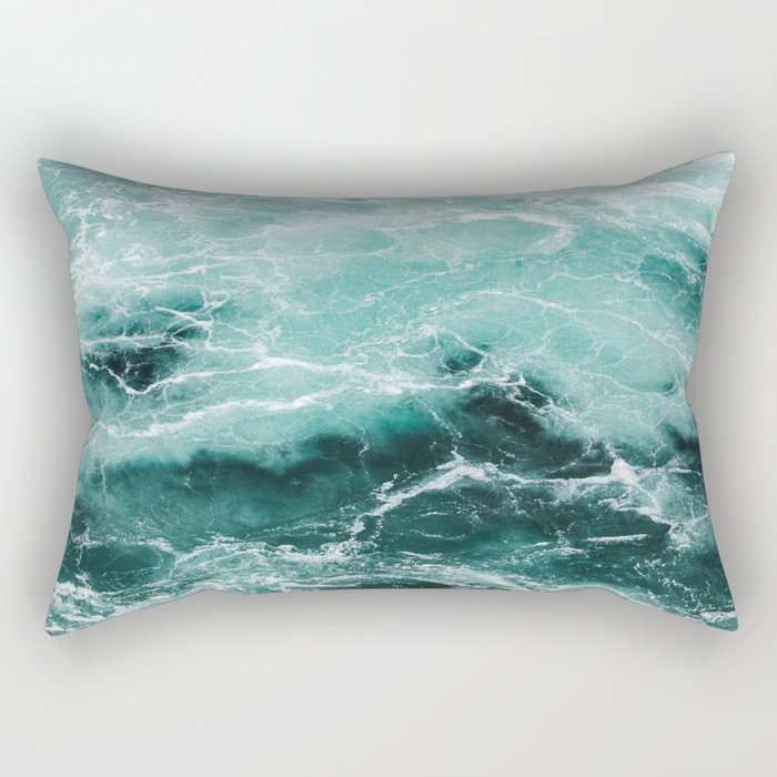 Water Photography   Sea   Ocean   Pattern   Abstract   Digital   Turquoise Rectangular Pillow