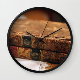 Antique Books Wall Clock