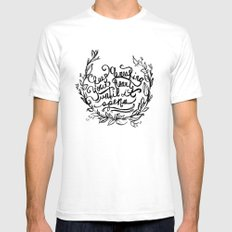 Breaking SMALL Mens Fitted Tee White