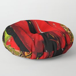 New Mexico Red Chiles growing in the Rio Grande Valley Floor Pillow