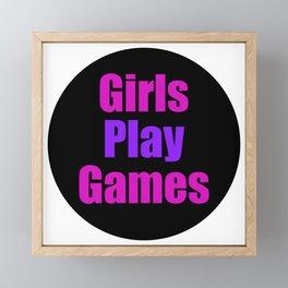Girls Play Games Framed Mini Art Print