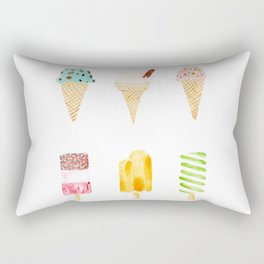 ice cream selection Rectangular Pillow