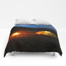 Camping Under a Midnight Sun Comforters