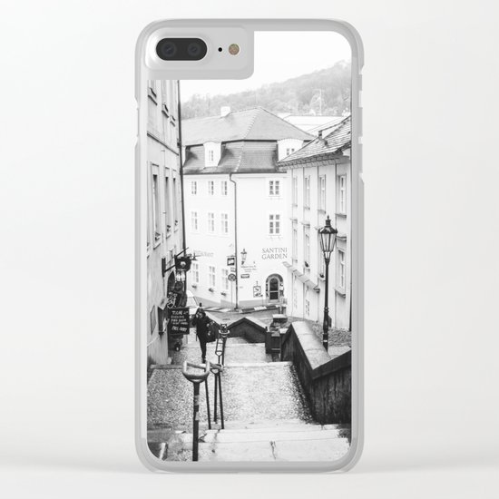 Streets Of Prague Clear iPhone Case