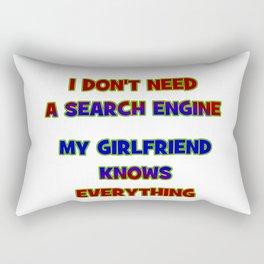 "Funny ""My Girlfriend Knows"" Joke Rectangular Pillow"