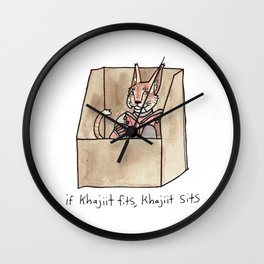 if Khajiit fits, Khajiit sits Wall Clock