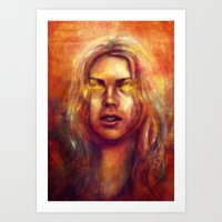 bad wolf Art Prints featuring Bad Wolf by Five-Oclock