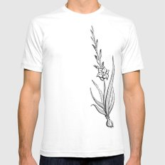 Gladiolus Flower White Mens Fitted Tee SMALL