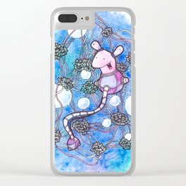 The strings and skeins universe Clear iPhone Case