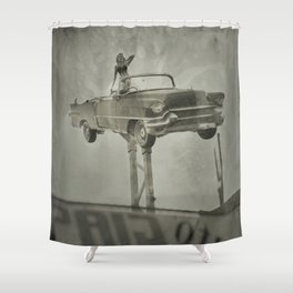 Ventage Signage in North Hollywood - 8x10 Tintype Photo Shower Curtain