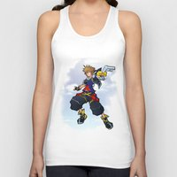 kingdom hearts Tank Tops featuring Kingdom Hearts 2 - Sora by Outer Ring
