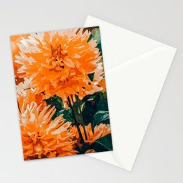 Coral Floral Stationery Cards