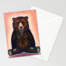 Blissed Out Bear Stationery Cards