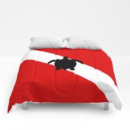 Diving Flag: Sea Turtle Comforters
