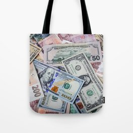 A collection of various foreign currencies Tote Bag