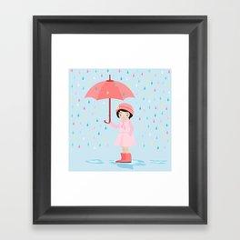 AFE Let it Rain Framed Art Print