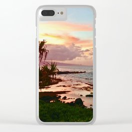 Sunset in Paia Clear iPhone Case