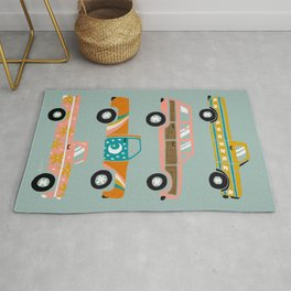 Retro Roads – Mint Rug