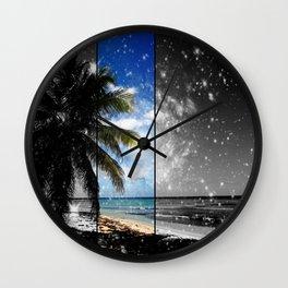 Caribbean Dreaming - digital artwork tribute to Isla Saona in the Dominican Republic Wall Clock