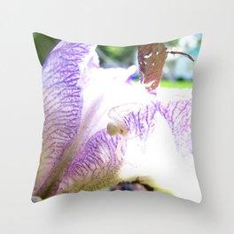 Spider Iris Throw Pillow